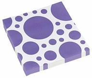 Solid Colour Dots Purple. 20 Tovaglioli 33X33Cm