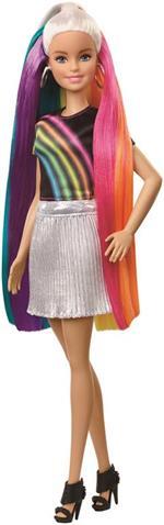 Barbie Capelli Arcobaleno Bambola con Accessori inclusi, Giocattolo per Bambini 3+ Anni. Mattel (FXN96)
