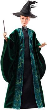 Harry Potter Personaggio Professoressa McGranitt con Abiti, Cappello e Macchetta,da Collezionare. Mattel (FYM55)