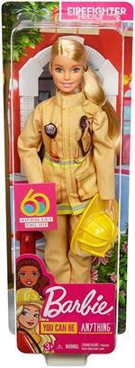 Barbie Carriere Iconiche. Pompiere. Edizione Esclusiva per 60 Anniversario