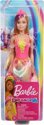 Barbie Principessa Dreamtopia, 30.5 cm, Bionda con Ciocca Viola Giocattolo per Bambini 3+ Anni. Mattel (GJK13)