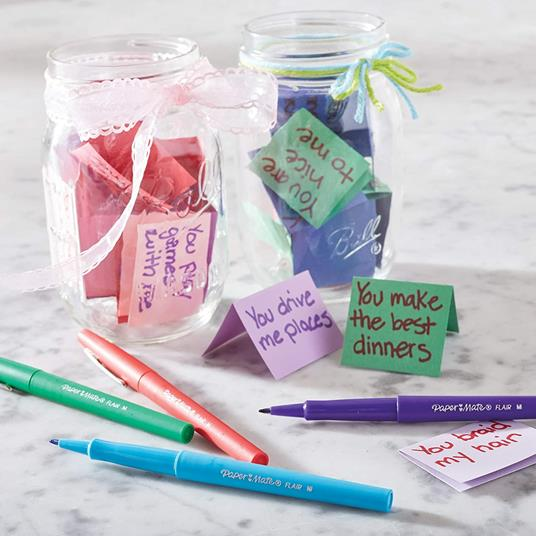Penna Papermate Flair-Nylon Candy Pop Colori Assortiti - Blister da 12 - 5