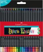 Matite colorate Faber-Castell Black Edition. Astuccio da 24 matite