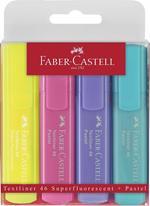 Evidenziatori Faber-Castell Textliner Pastel. Busta 4 colori pastello