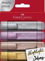 Evidenziatori Faber-Castell Colori Metallici 4 pezzi
