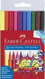 Pennarelli Faber-Castell Grip Colour Marker. Bustina 10 colori