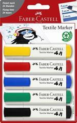 Marcatore tessile Faber-Castell Standar 5 marcatori