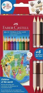 Matite colorate Faber-Castell Grip Chidren of the world. Astuccio cartone 10+3 matite