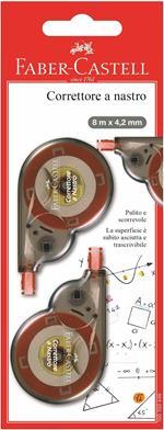 Correttori a nastro Faber-Castell 8mx4,1mm. Confezione 2 pezzi
