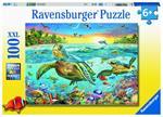 Puzzle Ravensburger Tartarughe marine 100 pezzi