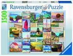 Puzzle Ravensburger Collage costiero 1500 pezzi