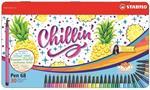 Pennarelli STABILO Pen 68 Limited Edition Design Ananas. Scatola in metallo 30 colori