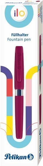 Penna stilografica Pelikan ILO. Con impugnatura ergonomica extra-soft, per mancini e destri, rosso