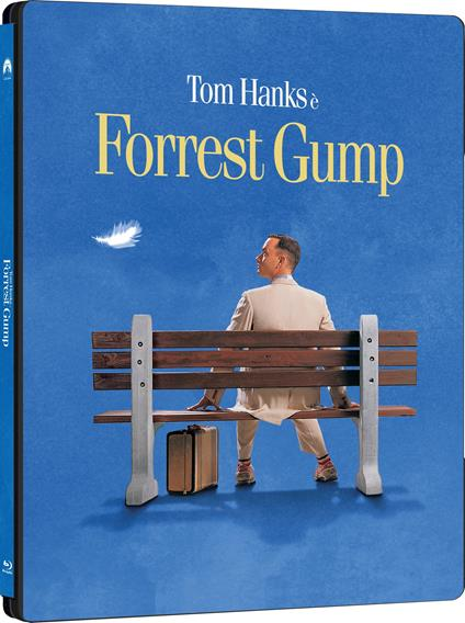 Forrrest Gump. Steelbook (2 Blu-ray + Blu-ray Ultra HD 4K) di Robert Zemeckis - Blu-ray + Blu-ray Ultra HD 4K
