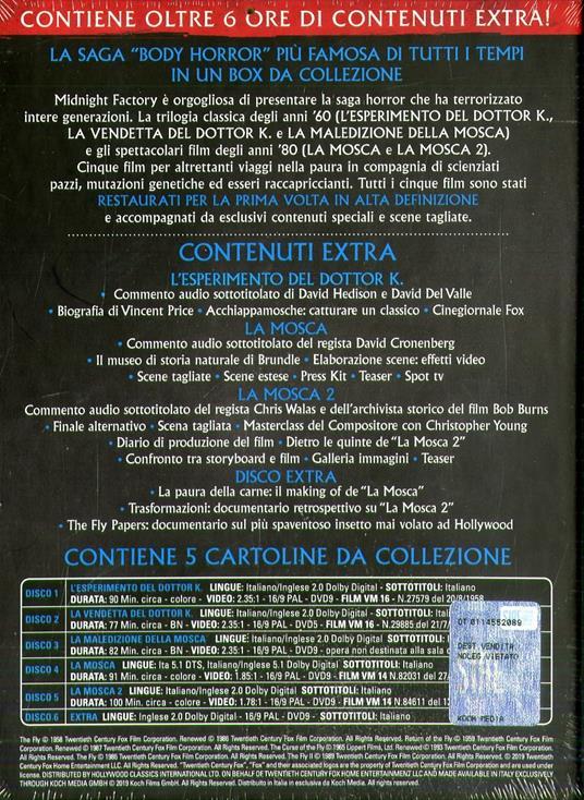 La Mosca Film Collection (6 DVD) di David Cronenberg,Kurt Neumann,Edward Bernds,Don Sharp,Chris Walas - 3