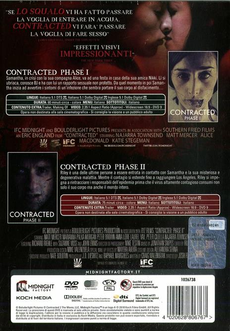 Contracted: Phase 1 - Phase 2. Limited Edition con booklet (2 DVD) di Eric England,Josh Forbes - 2