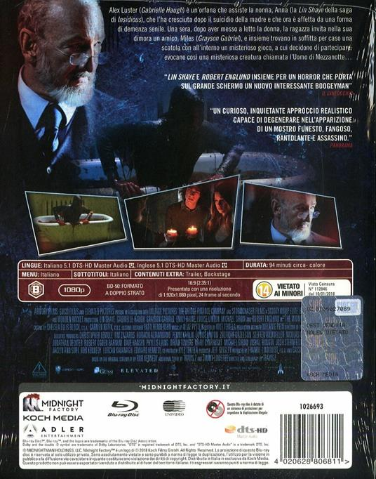 The Midnight Man. Edizione limitata (Blu-ray) di Travis Zariwny - Blu-ray - 2