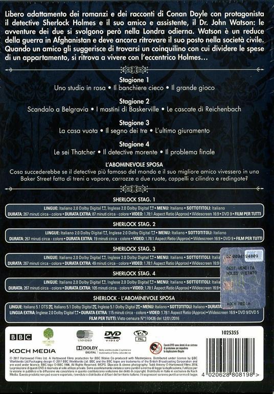 Sherlock. Definitive Edition. Stagioni 1 - 4 + L'abominevole sposa (10 DVD) di Paul McGuigan,Euros Lyn,Toby Haynes - DVD - 2