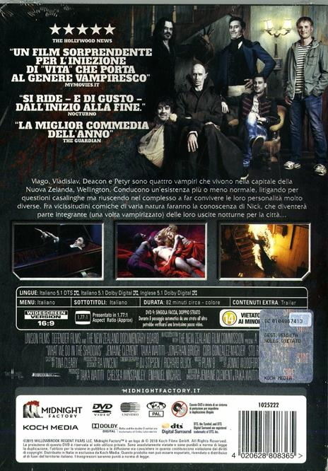 Vita da vampiro. What We Do in the Shadows. Limited Edition con booklet (DVD) di Jemaine Clement,Taika Waititi - DVD - 2