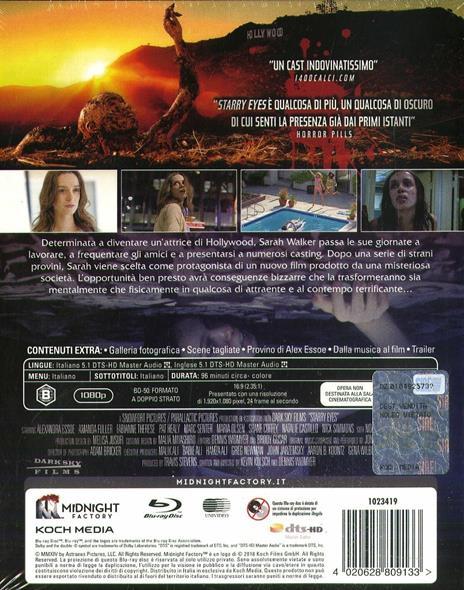 Starry Eyes. Limited Edition con Booklet (Blu-ray) di Kevin Kolsch,Dennis Widmyer - Blu-ray - 2