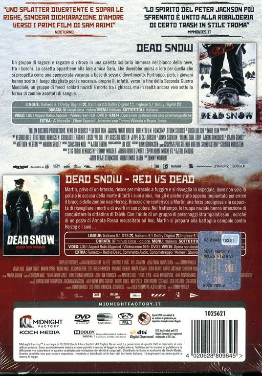 Dead Snow Collection. Limited edition con Booklet (2 DVD) di Tommy Wirkola - 2