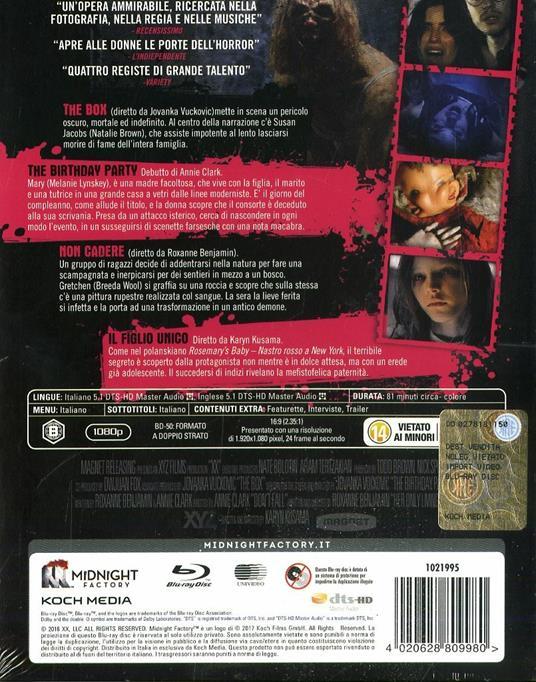 XX. Donne da morire. Limited Edition con Booklet (Blu-ray) di Roxanne Benjamin,Karyn Kusama,St. Vincent,Jovanka Vuckovic - Blu-ray - 2