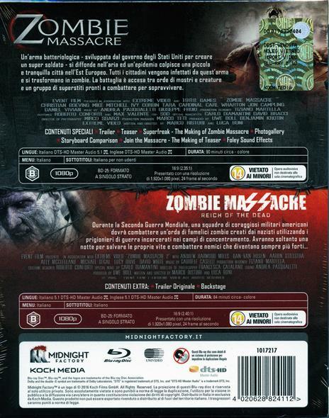 Zombie Massacre Collection (2 Blu-ray) di Luca Boni,Marco Ristori - 2