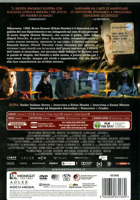 Regression<span>.</span> Limited Edition di Alejandro Amenabar - DVD - 8