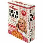 Scatola XL Tin Box XL Kellogg's - Girl Corn Flakes Collage, 19x26x8 cm