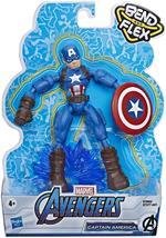 Avengers. Captain America Bend and Flex (Action Figure Flessibile 15cm)