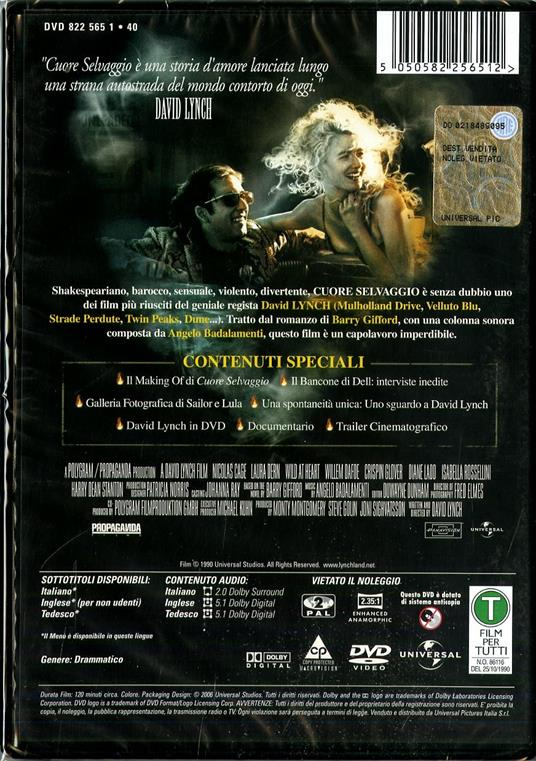 Cuore selvaggio<span>.</span> Collector's Edition di David Lynch - DVD - 2