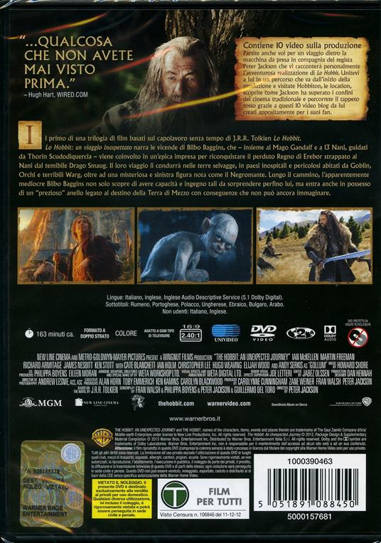 Lo Hobbit. Un viaggio inaspettato (2 DVD) di Peter Jackson - DVD - 2