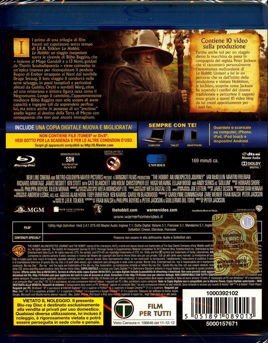 Lo Hobbit. Un viaggio inaspettato (2 Blu-ray) di Peter Jackson - Blu-ray - 2