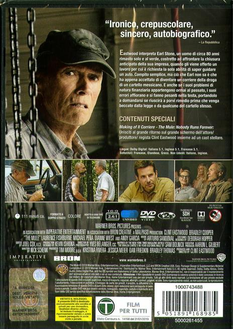 corriere. The Mule (DVD) di Clint Eastwood - DVD - 2