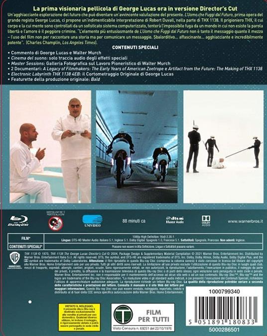 L' uomo che fuggì dal futuro. Con Steelbook e poster (Blu-ray) di George Lucas - Blu-ray - 3