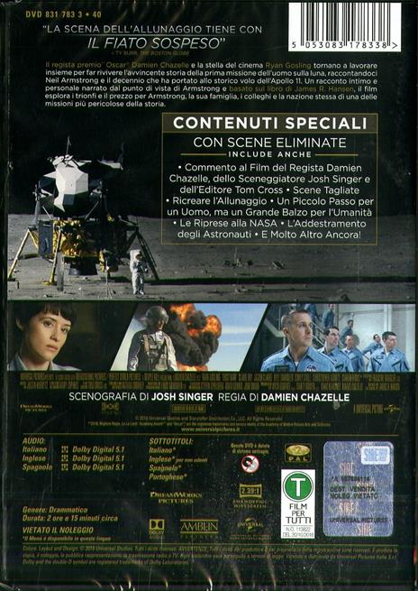 The First Man. Il primo uomo (DVD) di Damien Chazelle - DVD - 2