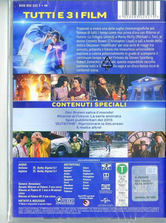 Ritorno al Futuro. Collection 35° Anniversario (3 DVD) di Robert Zemeckis - 2