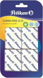 Gomma pane bianca Pelikan UG20. Confezione da 4 pezzi