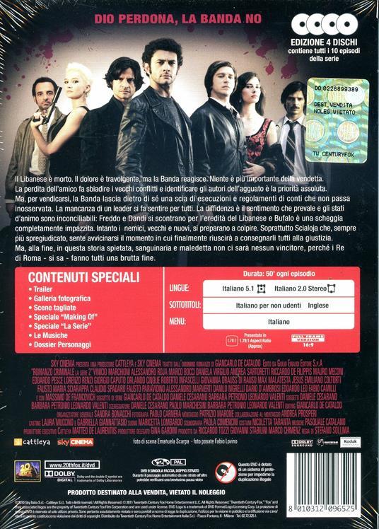 Romanzo criminale. Stagione 2 (4 DVD) di Stefano Sollima - DVD - 2