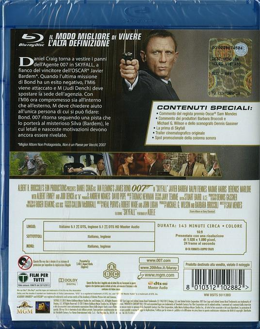 Skyfall 007 di Sam Mendes - Blu-ray - 2