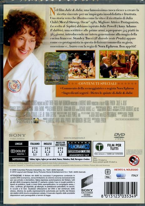 Julie & Julia di Nora Ephron - DVD - 2