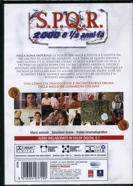 S.P.Q.R. 2000 e 1/2 anni fa di Carlo Vanzina - DVD - 2