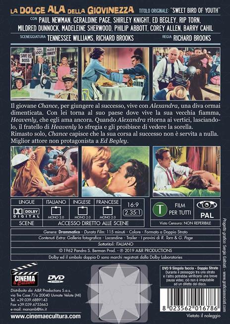 La dolce ala della giovinezza (DVD) di Richard Brooks - DVD - 2