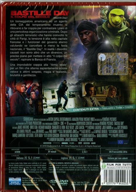 Bastille Day. Il colpo del secolo di James Watkins - DVD - 2
