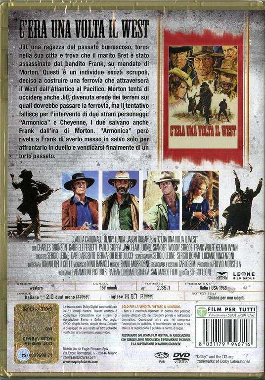 C'era una volta il West (DVD) di Sergio Leone - DVD - 2