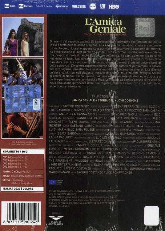 L' amica geniale. Storia del nuovo cognome. Stagione 2. Serie TV ita (4 DVD) di Saverio Costanzo,Alice Rohrwacher - DVD - 2