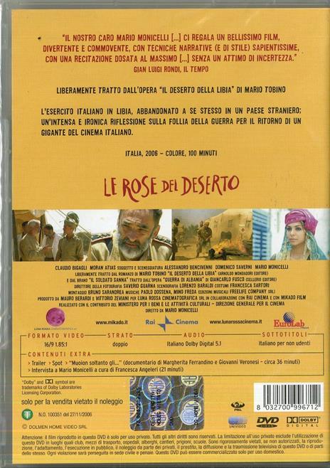 Le rose del deserto (1 DVD) di Mario Monicelli - DVD - 2