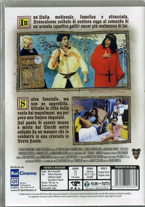 L' armata Brancaleone (DVD) di Mario Monicelli - DVD - 2
