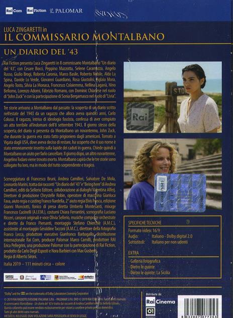 Il commissario Montalbano. Un diario del '43 di Alberto Sironi - DVD - 2