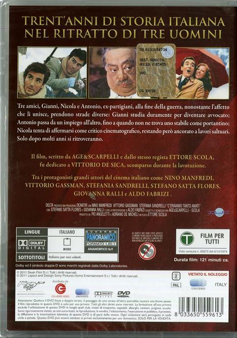 C'eravamo tanto amati di Ettore Scola - DVD - 2